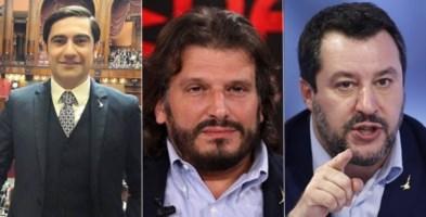 Domenico Furgiuele, Cristian Invernizzi e Matteo Salvini