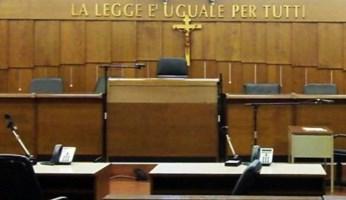 Aula di tribunale (foto Ansa)