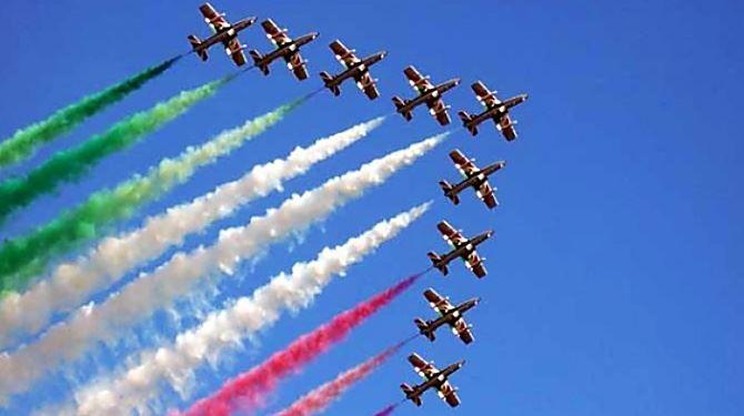 Le Frecce tricolori, foto ansa
