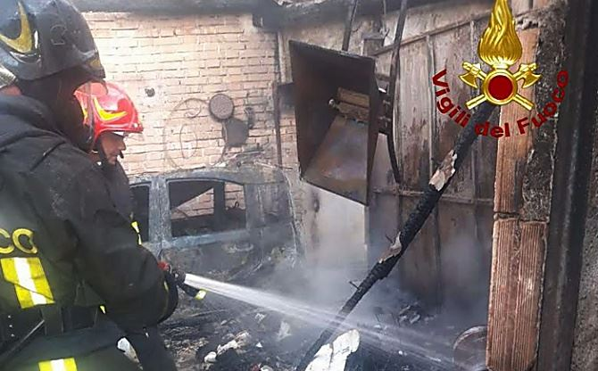 L'incendio a Drapia