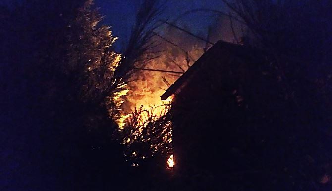 Incendio a Sorbo San Basile