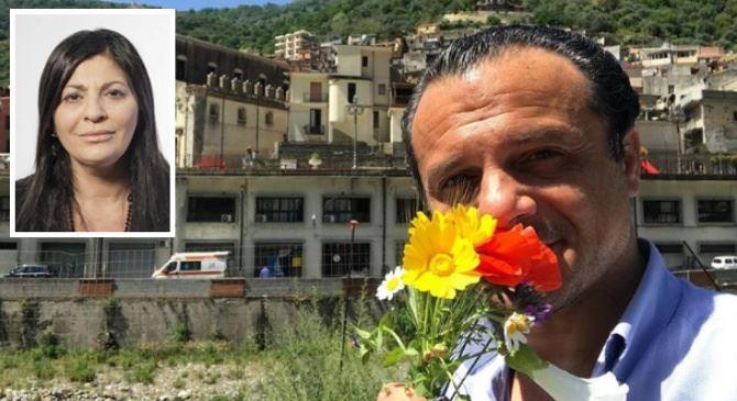 Il sindaco di Messina De Luca e la governatrice Santelli