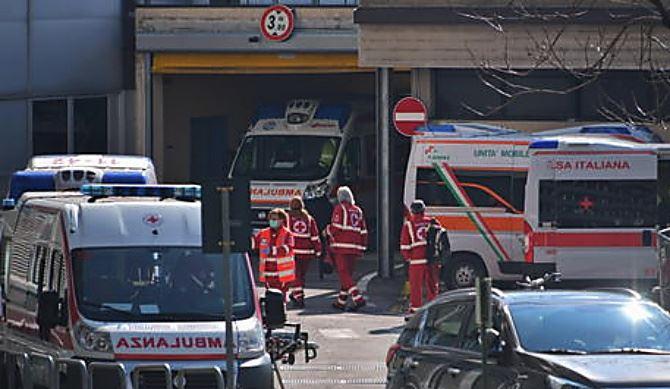 La situazione a Bergamo, foto ansa
