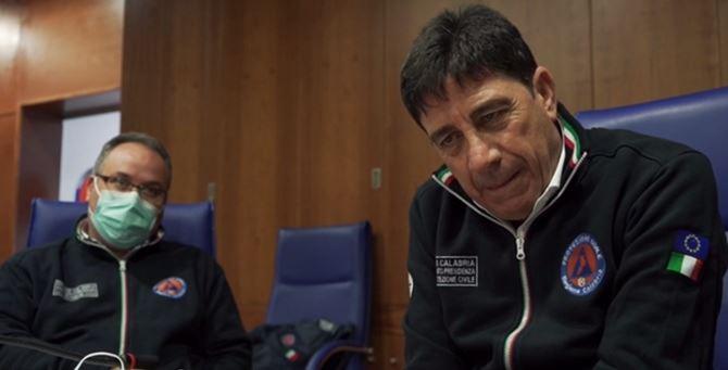 Domenico Pallaria durante l'intervista concessa a Report nel marzo 2020