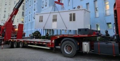 Coronavirus, all'ospedale di Crotone donato un container per il pre-triage
