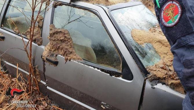 Auto abbandonata nel Vibonese