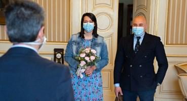 Parma, il matrimonio dei due medici (foto ansa)