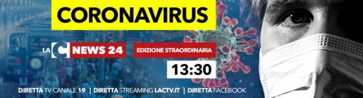 Il punto sul coronavirus in Calabria nell'edizione straordinaria del Tg su LaC Tv