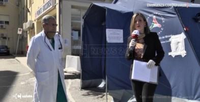 Emergenza coronavirus, ecco come si è attrezzato l'ospedale di Soverato