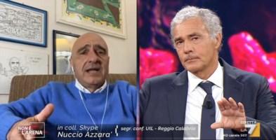 Massimo Giletti e il sindacalista Azzarà