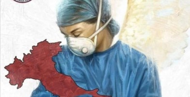 L'omaggio dei carabinieri a medici e infermieri: il disegno diventa virale