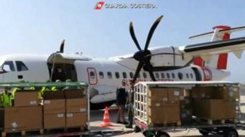 A Lamezia un aereo militare per consegnare dispositivi di protezione