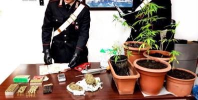 Armi e stupefacenti, due arresti a Reggio Calabria e Taurianova