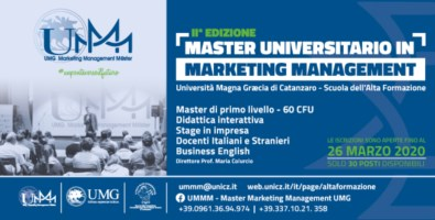 Università Magna Graecia, torna il master in Marketing Management