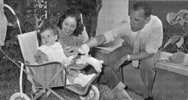 Giuseppe Berto con la moglie e la figlia