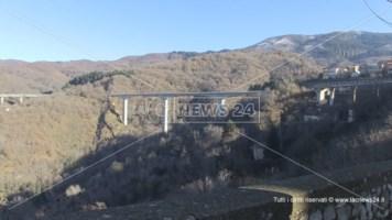 Una veduta del viadotto del Cannavino