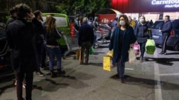 Assalto ai supermercati nella notte (foto ansa)