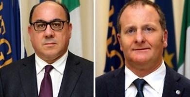Da sinistra Carlo Guccione e Domenico Bevacqua