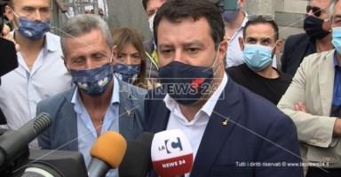 Salvini con il sindaco Biasi