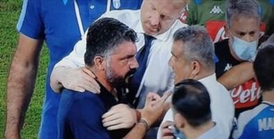 Lo scontro tra Rino Gattuso e la panchina della Lazio