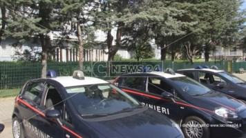 Alcune pattuglie dei carabinieri di Cosenza