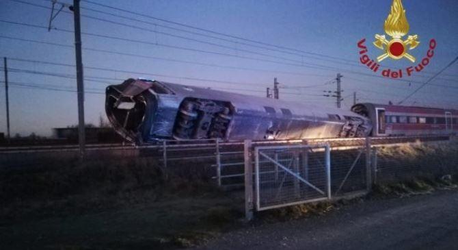 Il treno deragliato a Lodi