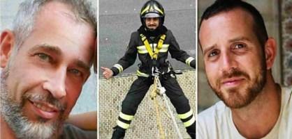 I tre pompieri morti nell'Alessandrino: Matteo Gastaldo, Antonio Candido e Marco Triches