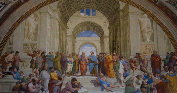 La scuola di Atene di Raffaello (foto da pixabay)