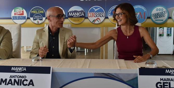 Mariastella Gelmini con Antonio Manica