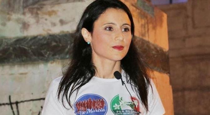 Angela Marcianò nell'ultimo comizio a Reggio (foto da fb)