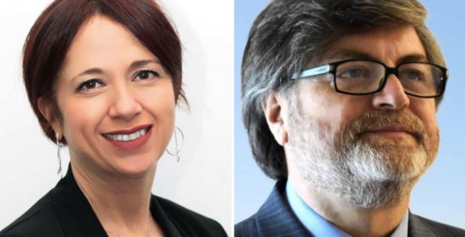 I parlamentari M5s Bianca Laura Granato e Giuseppe d'Ippolito