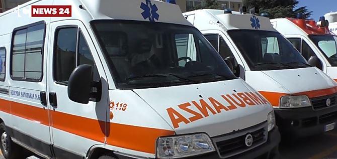 Le ambulanze dell'Azienda sanitaria provinciale