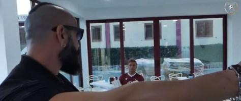 Un frame del video pubblicato dalla Reggina calcio sulla pagina Facebook ufficiale