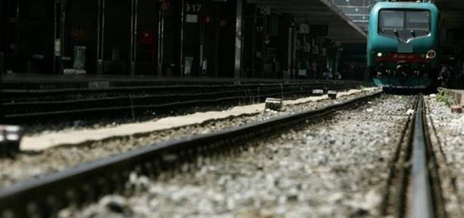 Un treno bloccato