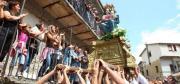 Immagine di processione in occasione della festa della Madonna di Polsi