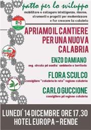 Patto per lo Sviluppo: Damiano, Guccione e Sculco insieme 'per una nuova Calabria'