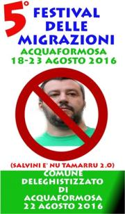 Acquaformosa vietata a Salvini