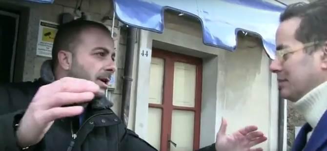 Un momento dell'incontro tra Klaus Davi e Nicola Bonavota