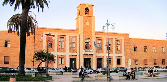 Il municipio di Vibo Valentia