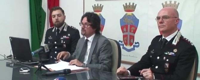 Conferenza stampa alla presenza del Procuratore aggiunto Bombardieri