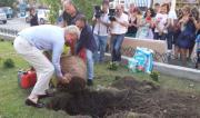 Catanzaro, Modine regala e pianta alberi alla città