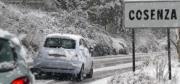 Maltempo, nevica in buona parte della provincia di Cosenza