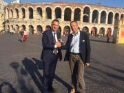 Greco incontra il sindaco di Verona Tosi: «Insieme per costruire l'unione degli italiani»