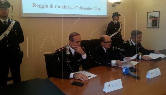 Conferenza stampa alla presenza del procuratore Federico Cafiero De Raho