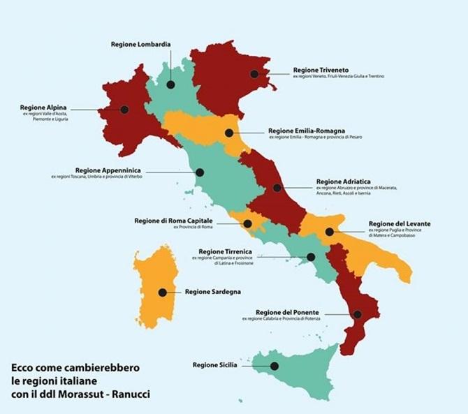 Cartina Calabria E Puglia.La Nuova Cartina Geografica Dalla Calabria Alla Regione Del