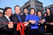 Cosenza, luci e colori per l'inaugurazione del parcheggio di Piazza Bilotti